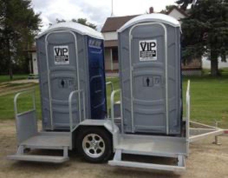 2 Unit Portable Washroom Trailer